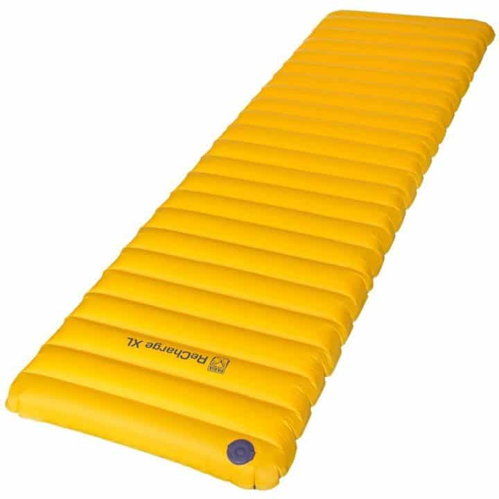 Paria Recharge XL one of the best sleeping pads for bad backs