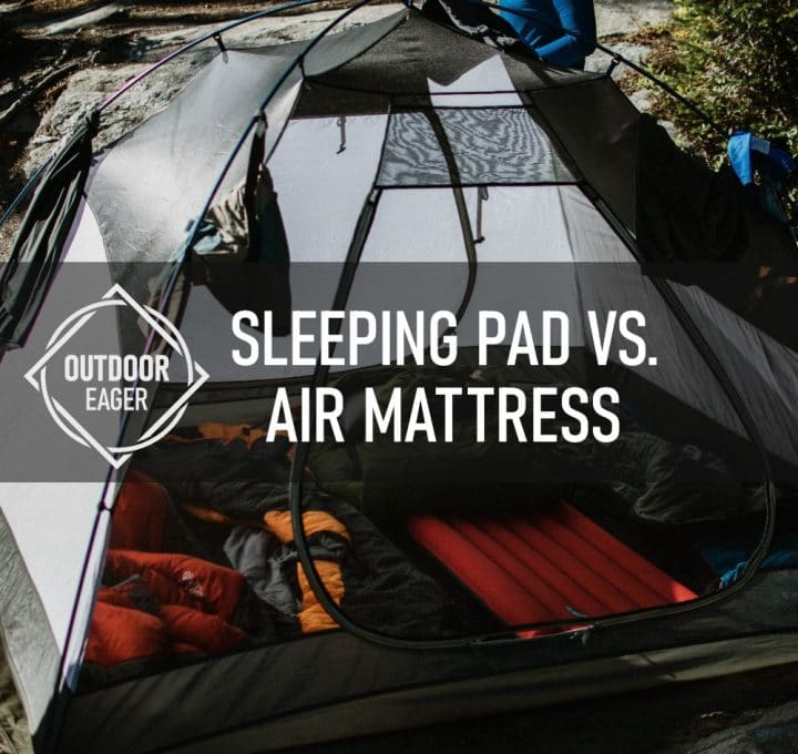 sleeping pad vs. air mattress