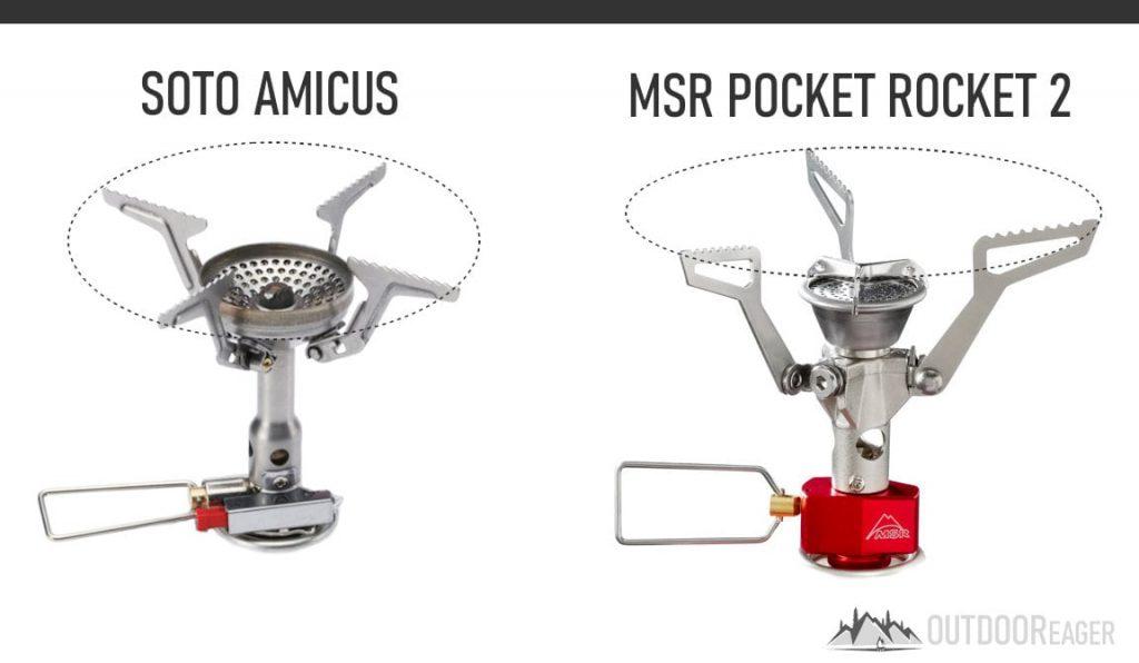Soto amicus vs Pocket Rocket 2 Pot Support Comparison