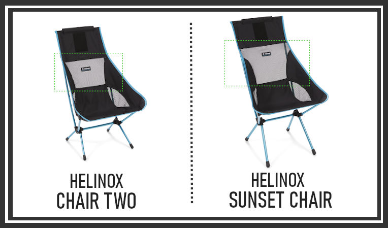 Helinox Chair Two vs Sunset Breathability Comparison