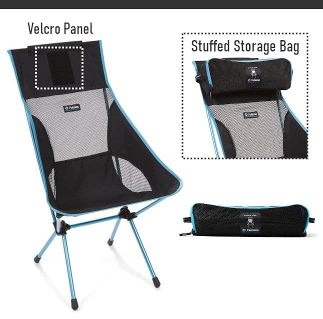 Helinox Storage Bag Used As Headrest