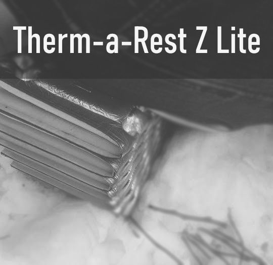 Sitting on Therm-a-Rest Z Lite