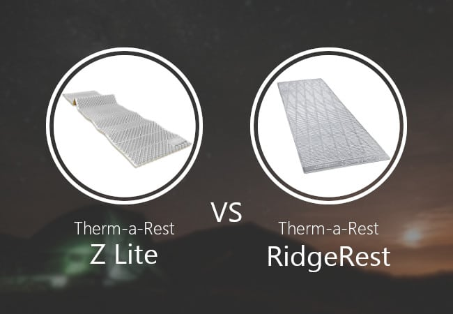 Thermarest Z Lite vs RidgeRest