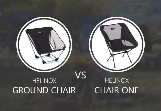 Helinox Ground Chair vs Chair One