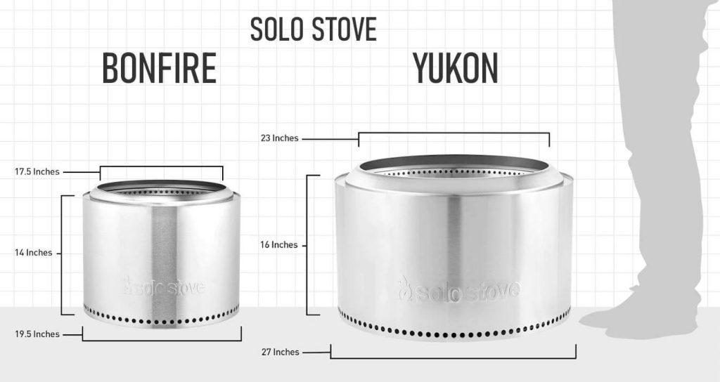 Solo Stove Bonfire vs Yukon Capacity Comparison