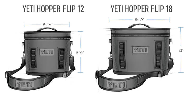 YETI Hopper Flip 12 vs 18 Sizes
