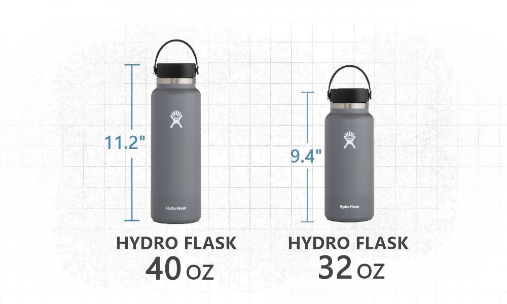 Hydro Flask 32 oz vs 40 oz dimensions